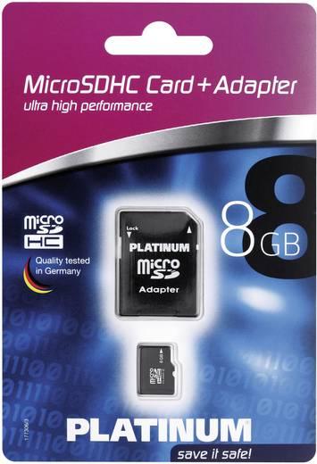 Platinum microSD-geheugenkaart 8GB Class 6 incl. SD-adapter