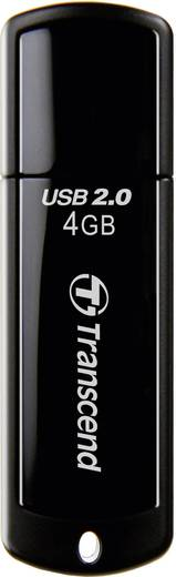 Transcend JetFlash® 350 4 GB USB-stick Zwart USB 2.0
