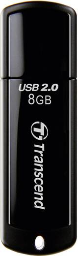 Transcend JetFlash® 350 8 GB USB-stick Zwart USB 2.0