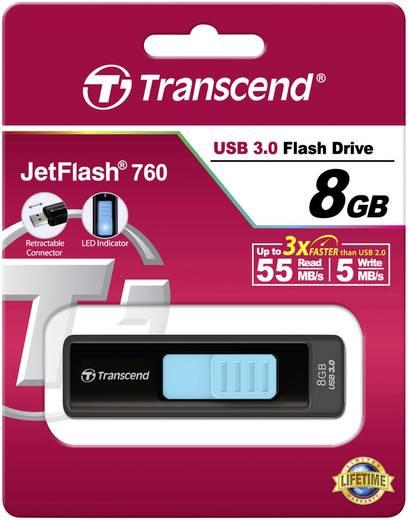 Transcend JetFlash® 760 8 GB USB-stick Zwart USB 3.0