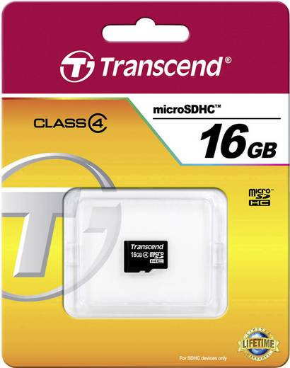 Transcend Standard 16 GB microSDHC-kaart Class 4