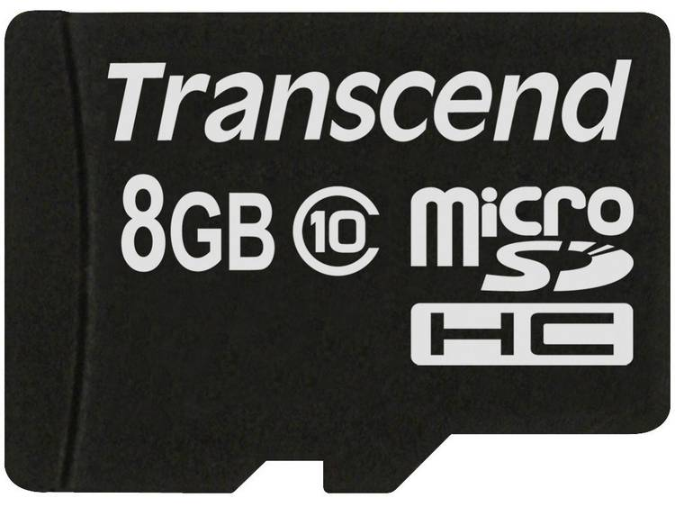 Transcend MicroSDHC Kaart 8GB Class 10