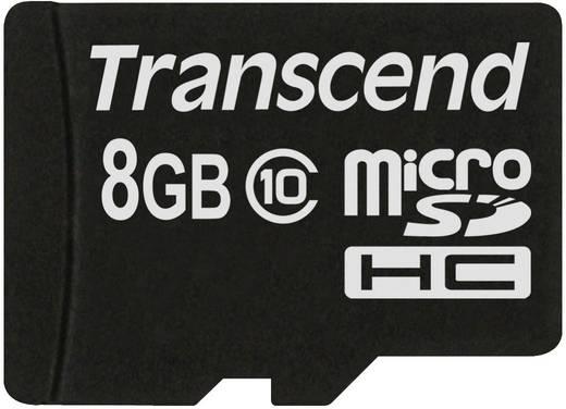 Transcend Premium 8 GB microSDHC-kaart Class 10 incl. USB-kaartlezer