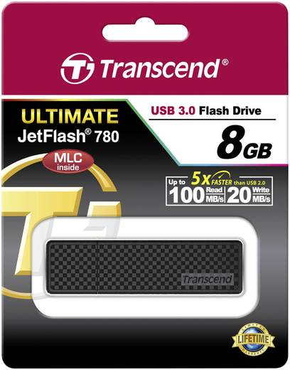 Transcend JetFlash® 780 8 GB USB-stick Zwart USB 3.0