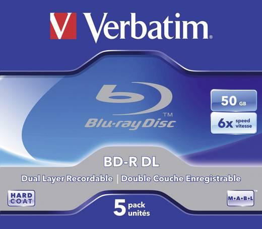 Verbatim Blu-ray BD-R DL-schijf 43748 5 stuks 50 GB 6x
