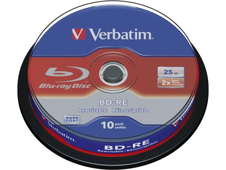 Verbatim 43694 Blu-ray BD-RE disc 25 GB 10 stuks Spindel