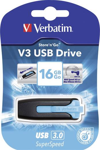 Verbatim V3 16 GB USB-stick Blauw USB 3.0