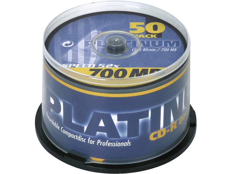 Platinum 100128 CD-R 80 disc 700 MB 50 stuks Spindel