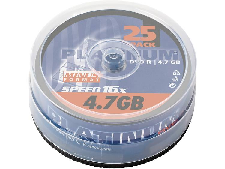 DVD-R disc 4.7 GB Platinum 100302 25 stuks Spindel