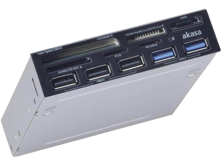 Akasa AK ICR 17 Inbouw geheugenkaartlezer 8.9 cm 3.5 inch Zwart