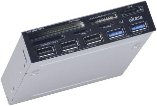 Akasa AK-ICR-17 Inbouw-geheugenkaartlezer 8.9 cm (3.5 inch) Zwart
