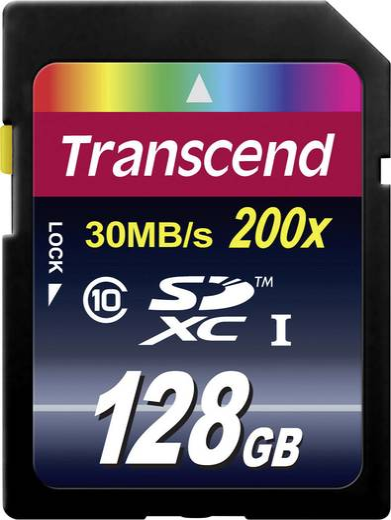 Transcend Premium SDXC-kaart 128 GB Class 10