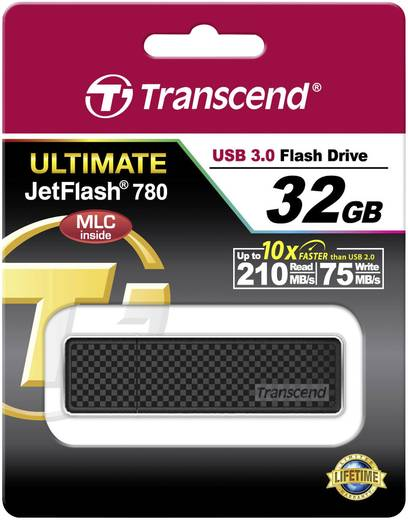 Transcend JetFlash® 780 32 GB USB-stick Zwart USB 3.0