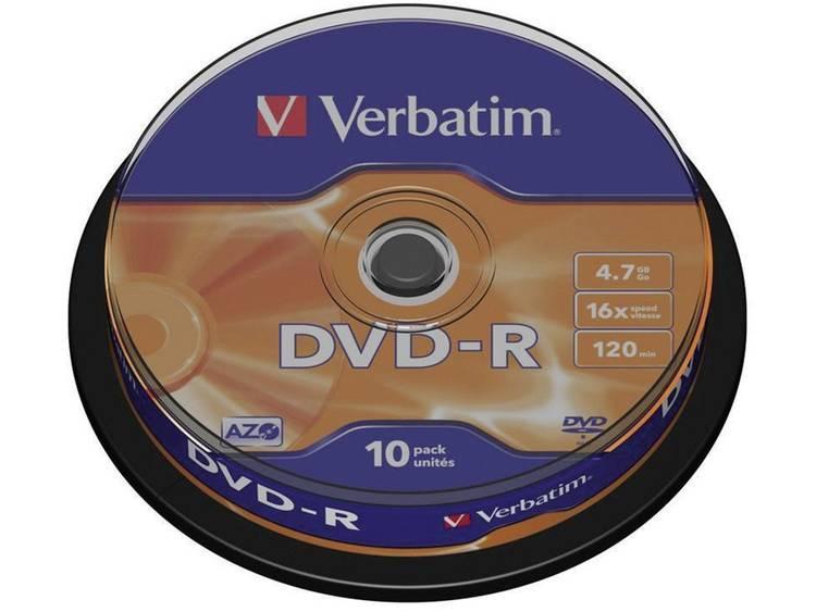 Verbatim DVD-R 43523 4.7 GB 120 min. 10 Stuks