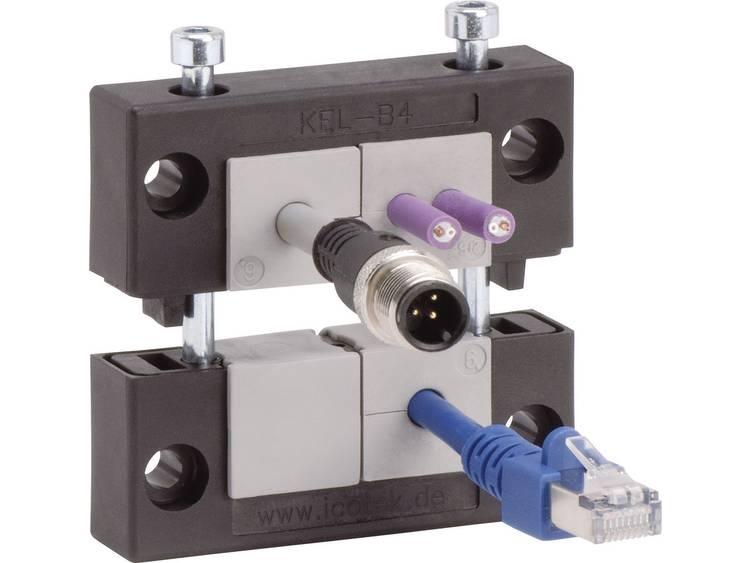 Icotek KEL-B4 Kabelinvoeringsplaat Klem-Ã (max.) 35 mm Polyamide Zwart 1 stuks