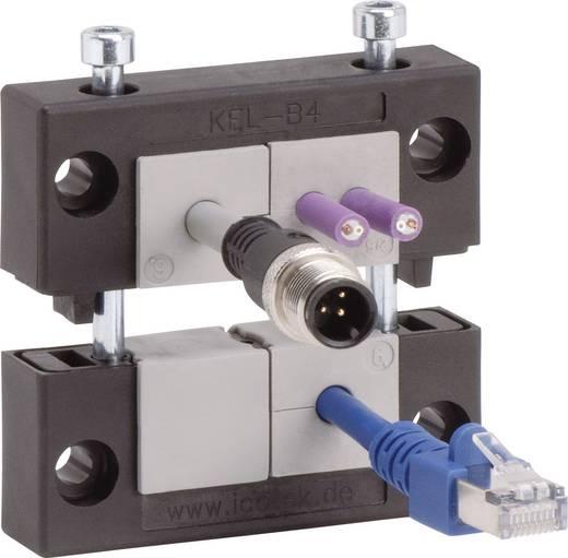 Kabelinvoeringsplaat Klem-Ø (max.) 35 mm Polyamide Zwart Icotek KEL-B4 1 stuks