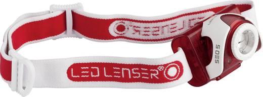 LED Lenser SEO 5 LED Hoofdlamp Rood werkt op batterijen