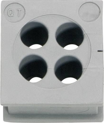 Kabeldoorvoering Klem-Ø (max.) 3 mm Elastomeer Grijs Icotek QT 4/3 1 stuks
