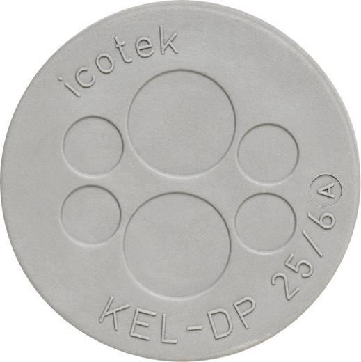 Kabeldoorvoeringsplaat Klem-Ø (max.) 9.4 mm Elastomeer Grijs Icotek KEL-DP 25/6 1 stuks