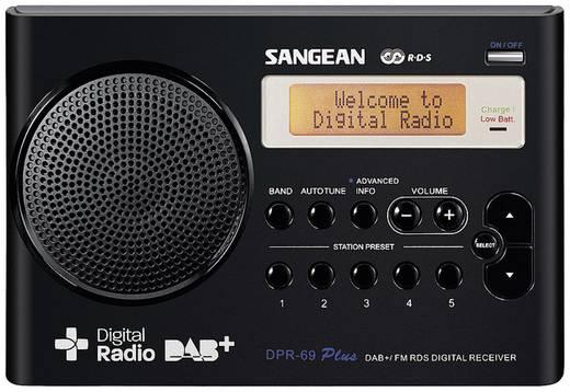 DAB+ Transistorradio Sangean DPR-69+ DAB+, FM Accu laadfunctie Zwart