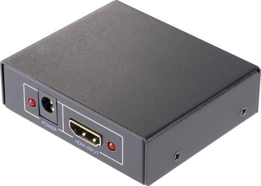 2 poorten HDMI-splitter SpeaKa Professional 419154 3D-weergave mogelijk 1920 x 1080 pix Zwart