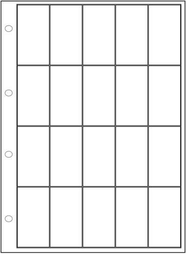 Ordnerinzet (l x b x h) 305 x 231 x 16.8 mm Weltron 902110 Aantal vakken: 20 Vaste onderverdeling