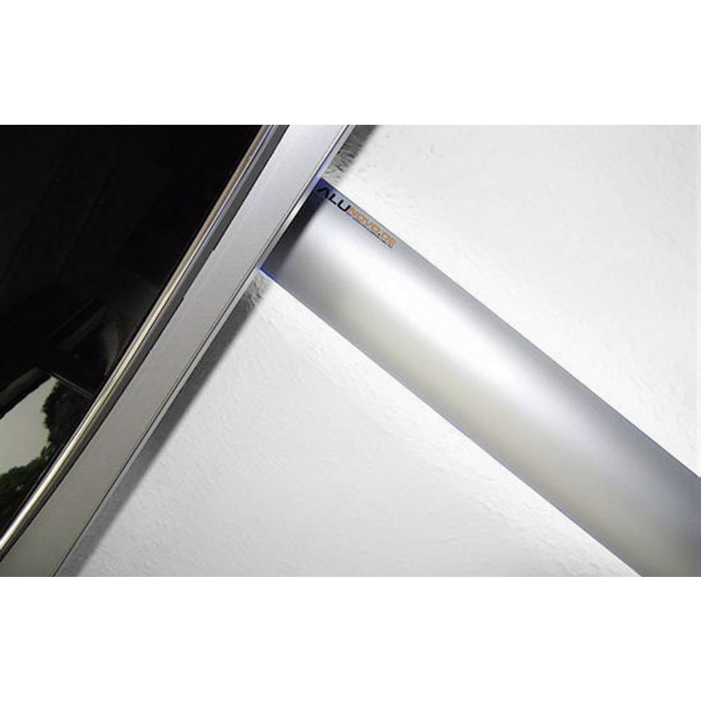 Kabelkanaal (l x b x h) 1000 x 80 x 20 mm Zilver (mat, geëloxeerd) Alunovo Inhoud: 1 stuks
