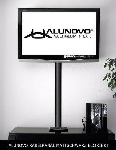 Alunovo SE90-025 Kabelgoot (l x b x h) 250 x 80 x 20 mm 1 stuks Zwart (geëloxeerd)