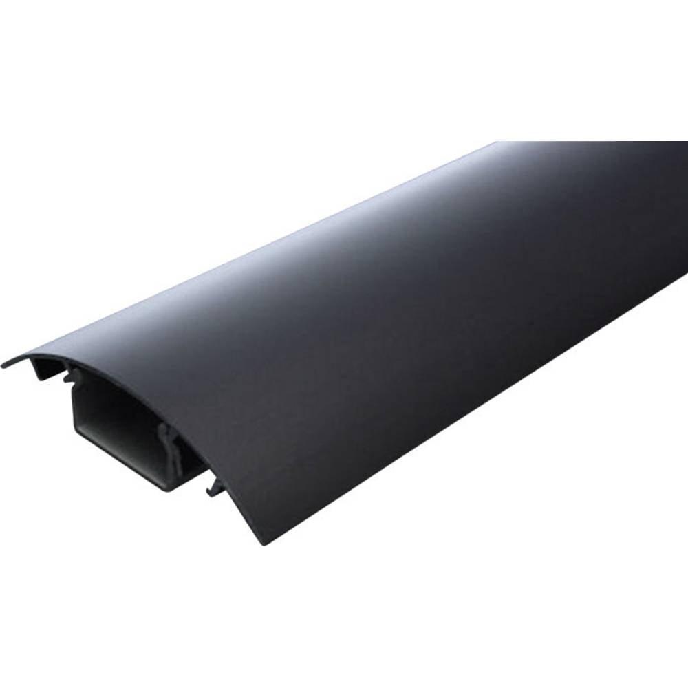 Kabelkanaal (l x b x h) 250 x 80 x 20 mm Zwart (geëloxeerd) Alunovo Inhoud: 1 stuks