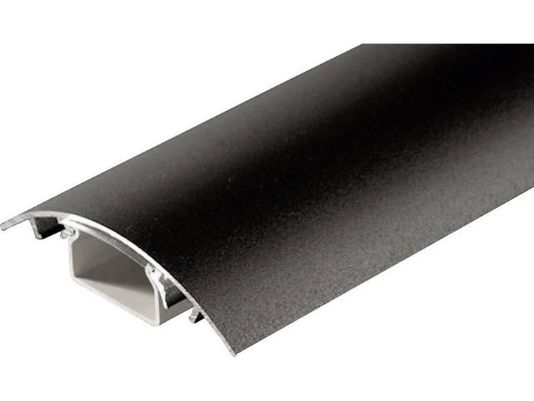 Kabelkanaal (l x b x h) 700 x 80 x 20 mm Zwart (mat) Alunovo Inhoud: 1 stuks