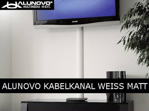 Alunovo WE90-070 Kabelgoot (l x b x h) 700 x 80 x 20 mm 1 stuks Wit (mat)
