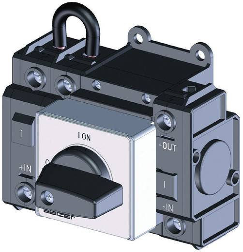 Lastscheidingsschakelaar Gelijkspanning 32 A 1000 V 1 x 90 ° Zwart Sälzer D241-83300-026M1 1 stuks