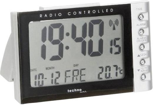 Wekker Zendergestuurd Zilver, Zwart Alarmtijden: 1 Techno Line WT 188