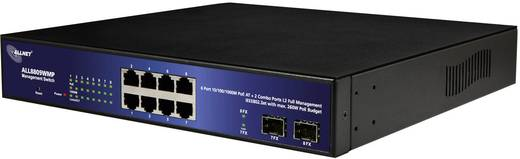 Allnet ALL8809WMP/slim beheerde 8-poorts HPoE-switch incl. 2 combo-poorten (RJ/SFP)
