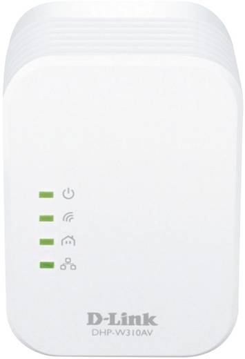 D-Link DHP-P310AV Powerline WiFi enkele adapter 500 Mbit/s