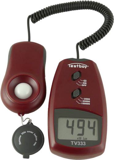 Testboy #WERT! TV 333 luxmeter, belichtingsmeetapparaat, helderheidsmeter 0 - 100000 lx<b