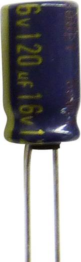 Elektrolytische condensator Radiaal bedraad 5 mm 220 µF 63 V/DC 20 % (Ø x l) 10 mm x 25 mm Panasonic EEUFR1J221LB 500 s