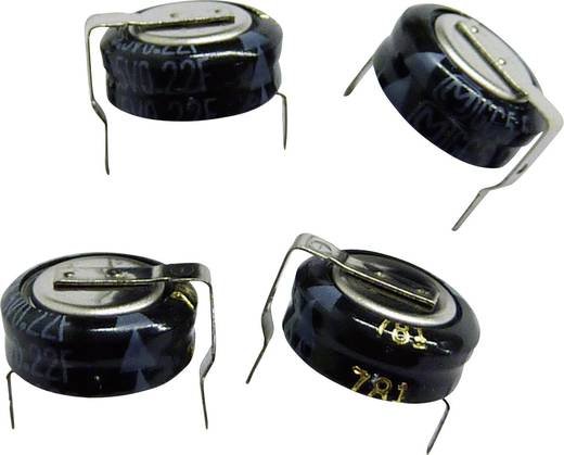 Panasonic EECS0HD224H Gold-Cap condensator 0.22 F 5.5 V 30 % (Ø x h) 10.5 mm x 6 mm 1 stuks