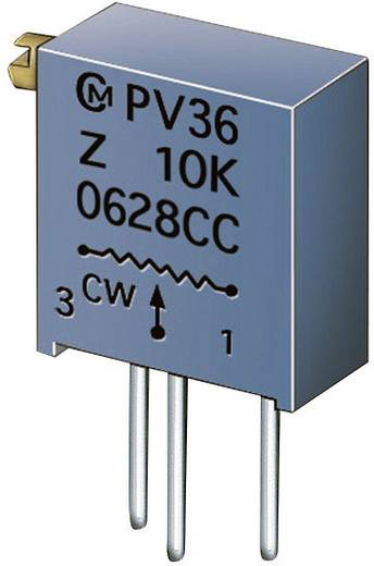 Murata PV36Z202C01B00 Cermet-trimmer 25-slagen Lineair 0.5 W 2 kΩ 9000 ° 1 stuks