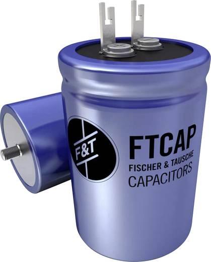Elektrolytische condensator Radiaal bedraad 15000 µF 63 V 20 % (Ø x h) 40 mm x 66 mm F & T LFB15306340066 1 stuks