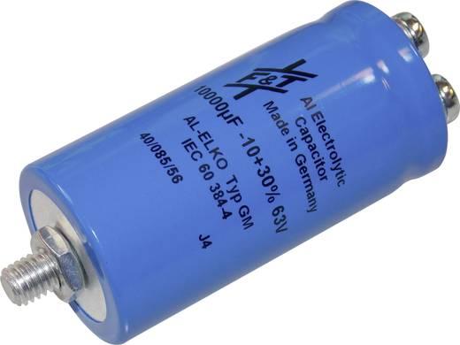 Elektrolytische condensator Schroefaansluiting 10000 µF 63 V 20 % (Ø x h) 35 mm x 70 mm FTCAP GMB10306335070 1 stuks