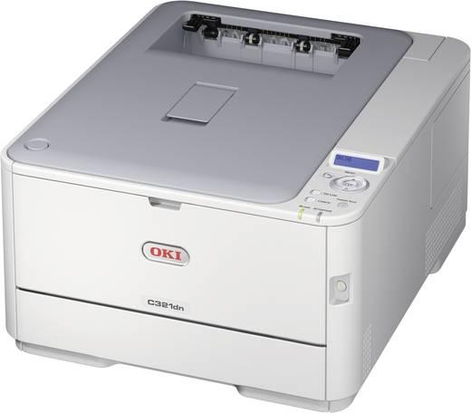 OKI C321dn Kleurenlaserprinter A4 22 p/min 20 p/min 1200 x 600 dpi Duplex, LAN