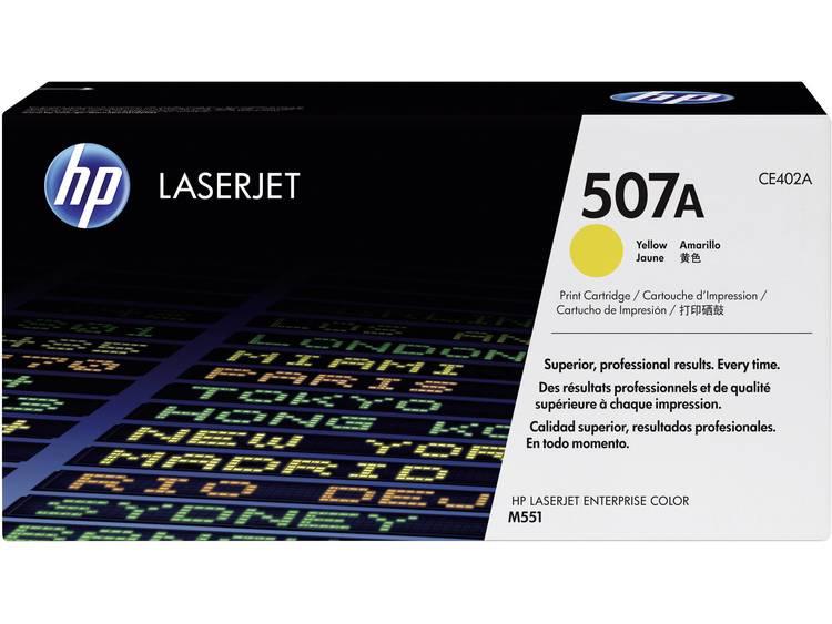 HP 507A CE402A Tonercassette Geel 6000 bladzijden Origineel Tonercassette