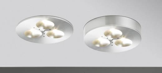 Paulmann LED-opbouwlamp 9 W Warm-wit Micro Line Plane Aluminium 93546 Set van 3