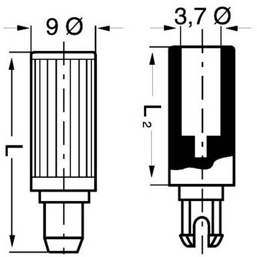 Piher 5208 Plug-as Zwart 1 stuks