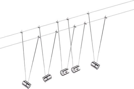 Wire System TeleComet II 5x 20W GU4 chroom 230/12V 105VA metaal