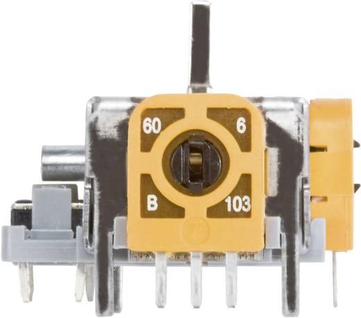 98002C6 Joystick 12 V/DC Metalen hefboom, recht Soldeerpennen 1 stuks