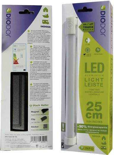 DioDor LED-onderbouwlamp 3.5 W Koud-wit Diodor lichtbalk Wit DIO-TL25-SP-FW