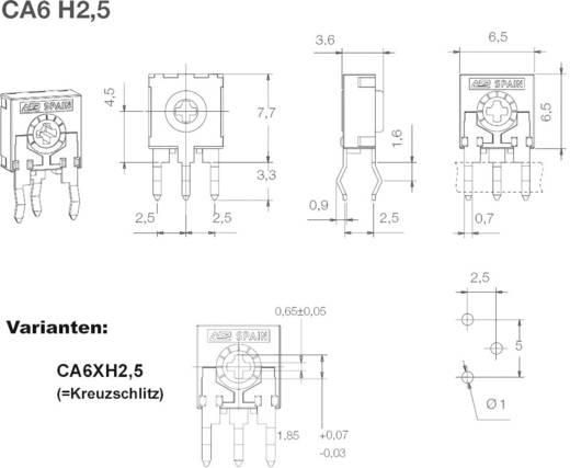 ACP CA6XH2,5-50KA2020SNP Koolfilmtrimmer Lineair 0.1 W 50 kΩ 215 ° 235 ° 1000 stuks