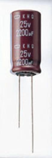 Elektrolytische condensator Radiaal bedraad 5 mm 2200 µF 25 V/DC 20 % (Ø x l) 12.5 mm x 25 mm Europe ChemiCon EKMG250ELL222MK25S 1000 stuks